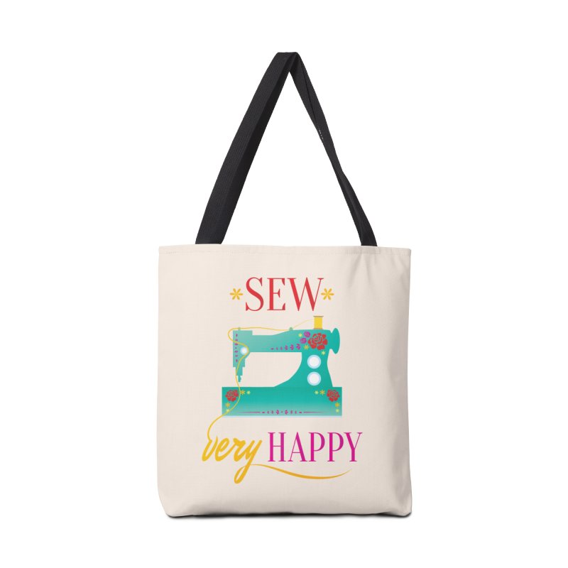 Sew Very Happy Accessories Tote Bag Bag by Haciendo Designs's Artist Shop