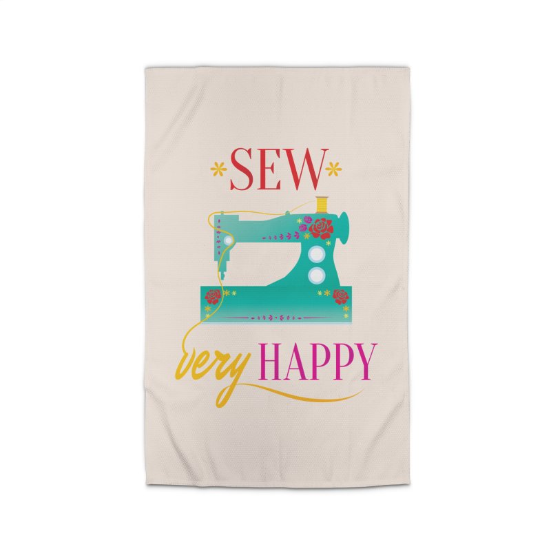 Sew Very Happy Home Rug by Haciendo Designs's Artist Shop