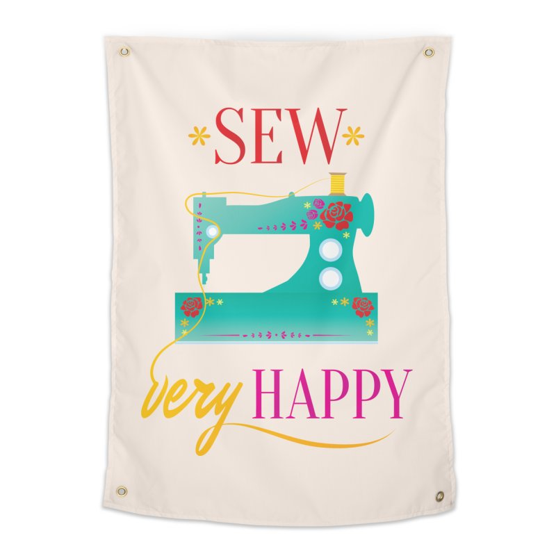 Sew Very Happy Home Tapestry by Haciendo Designs's Artist Shop