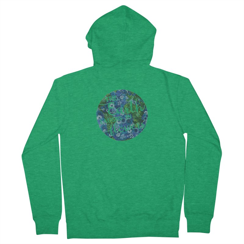 The Earth Laughs in Flowers Men's Zip-Up Hoody by Haciendo Designs's Artist Shop