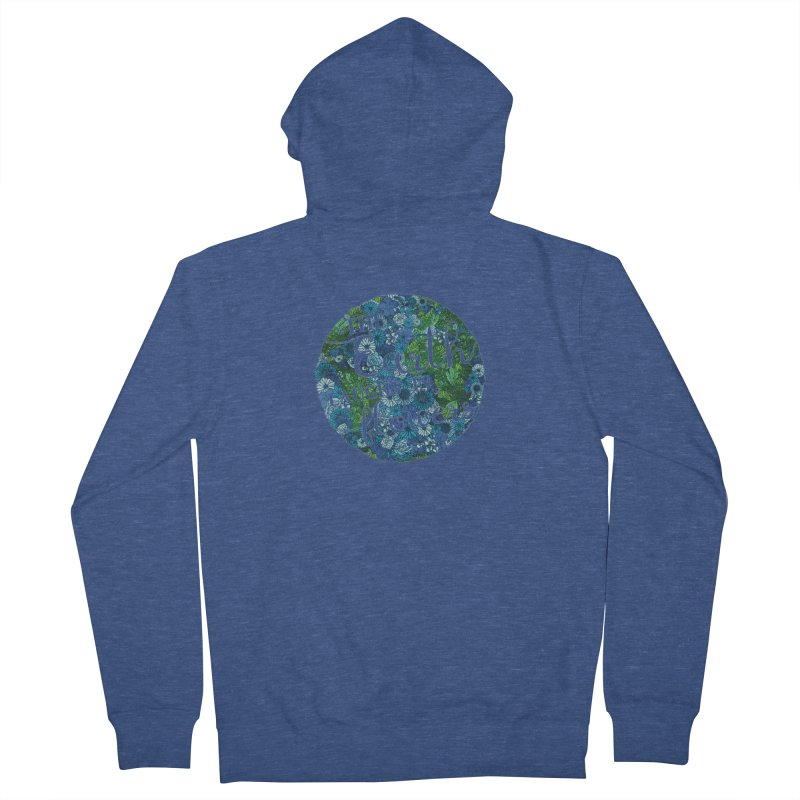 The Earth Laughs in Flowers Men's French Terry Zip-Up Hoody by Haciendo Designs's Artist Shop