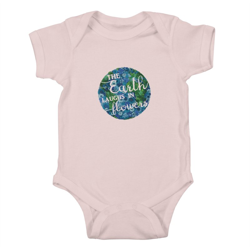 The Earth Laughs in Flowers Kids Baby Bodysuit by Haciendo Designs's Artist Shop