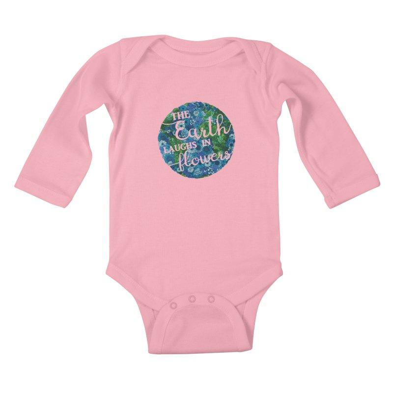 The Earth Laughs in Flowers Kids Baby Longsleeve Bodysuit by Haciendo Designs's Artist Shop