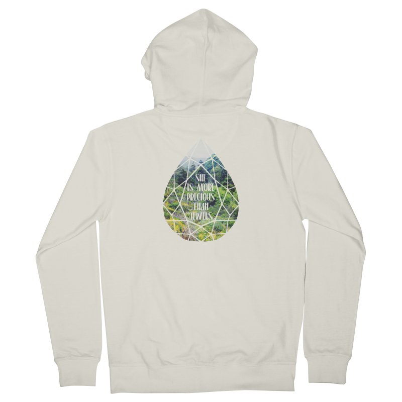 She is More Precious Than Jewels Women's French Terry Zip-Up Hoody by Haciendo Designs's Artist Shop