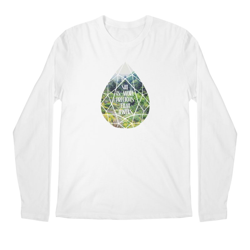 She is More Precious Than Jewels Men's Regular Longsleeve T-Shirt by Haciendo Designs's Artist Shop