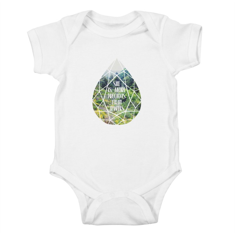 She is More Precious Than Jewels Kids Baby Bodysuit by Haciendo Designs's Artist Shop