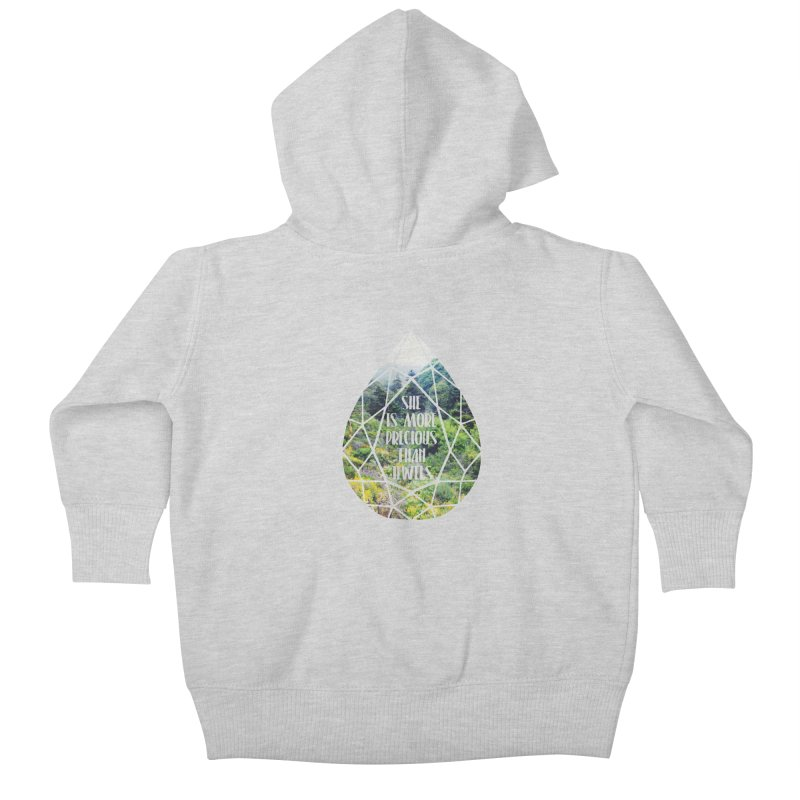 She is More Precious Than Jewels Kids Baby Zip-Up Hoody by Haciendo Designs's Artist Shop