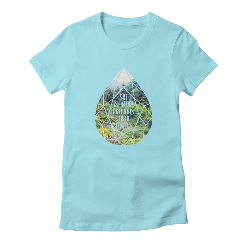 She is More Precious Than Jewels Women's Fitted T-Shirt by Haciendo Designs's Artist Shop