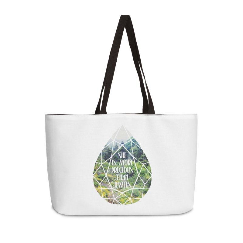 She is More Precious Than Jewels Accessories Weekender Bag Bag by Haciendo Designs's Artist Shop