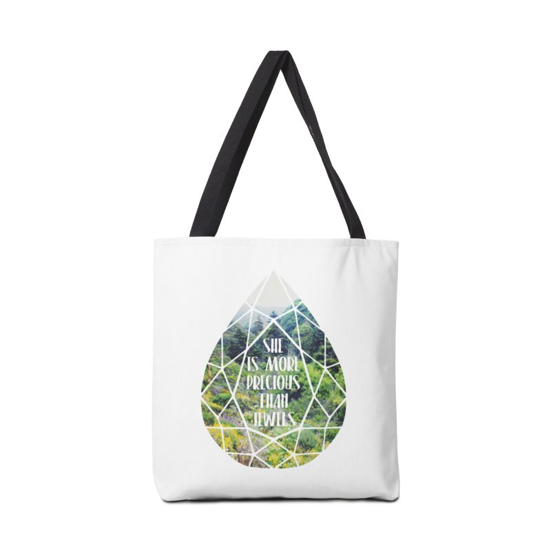 She is More Precious Than Jewels Accessories Tote Bag Bag by Haciendo Designs's Artist Shop