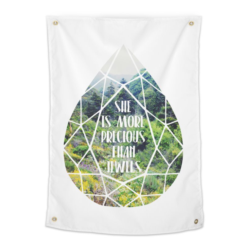 She is More Precious Than Jewels Home Tapestry by Haciendo Designs's Artist Shop