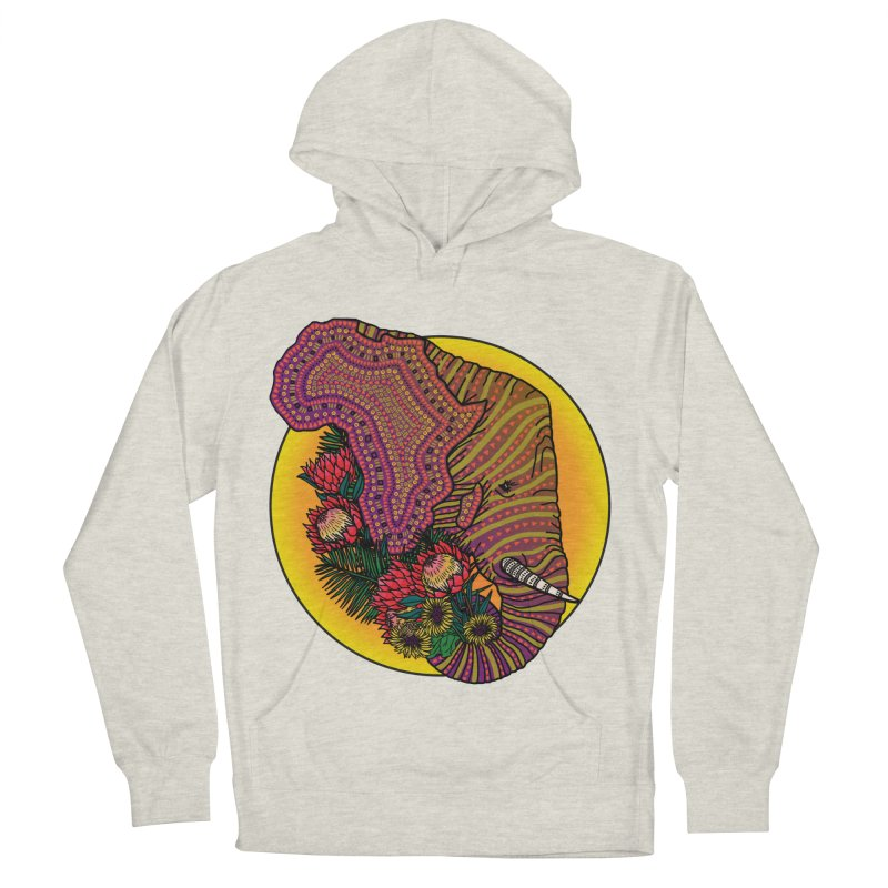 Loxodonta Africana Men's French Terry Pullover Hoody by Haciendo Designs's Artist Shop