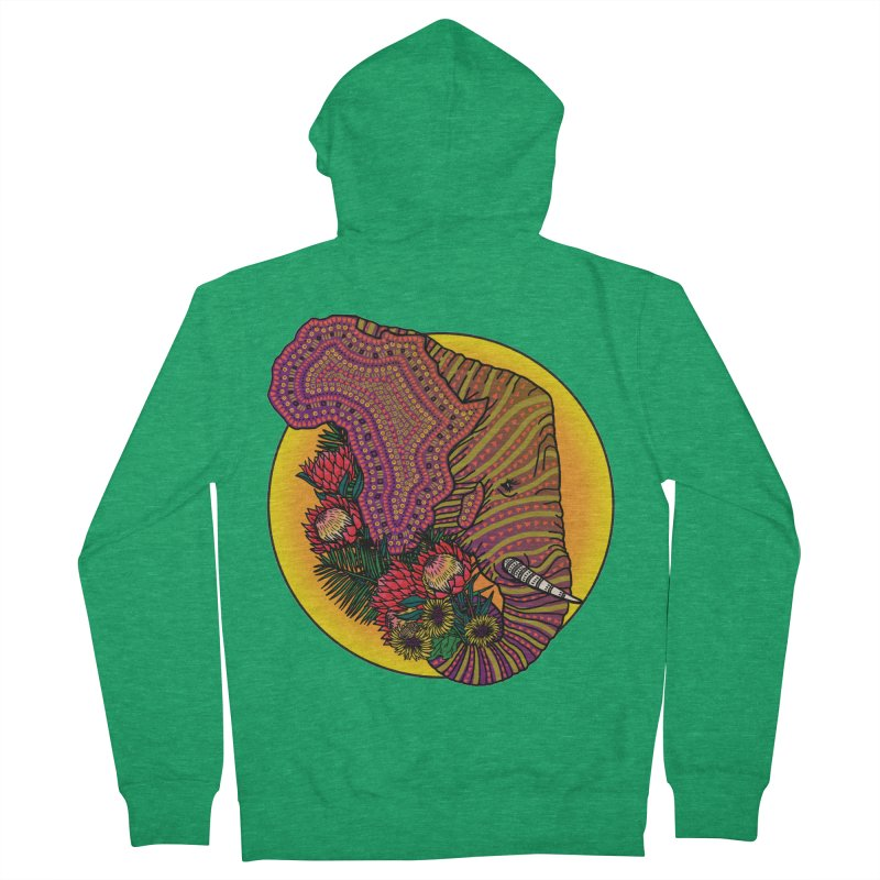 Loxodonta Africana Women's French Terry Zip-Up Hoody by Haciendo Designs's Artist Shop
