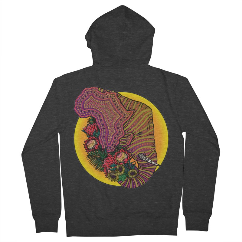 Loxodonta Africana Men's Zip-Up Hoody by Haciendo Designs's Artist Shop