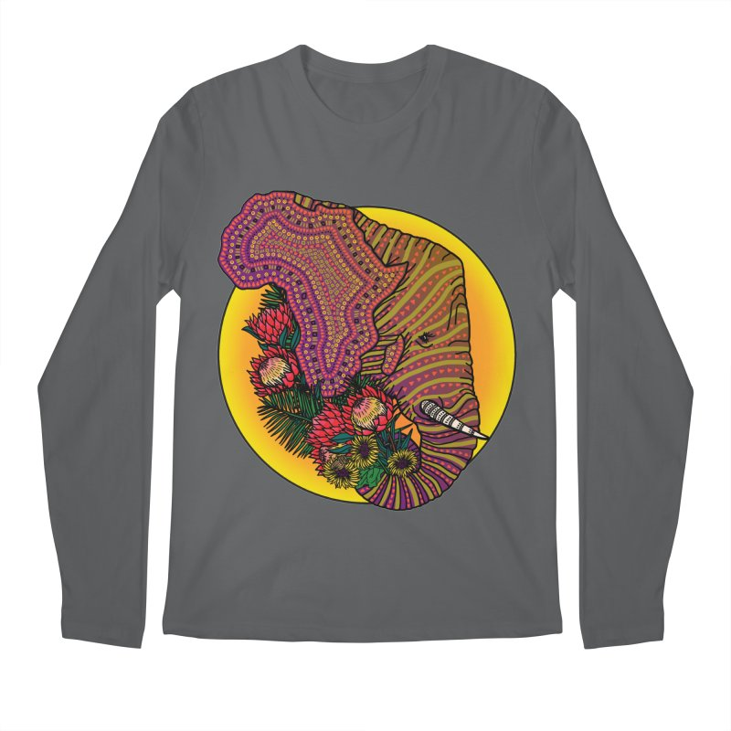 Loxodonta Africana Men's Longsleeve T-Shirt by Haciendo Designs's Artist Shop