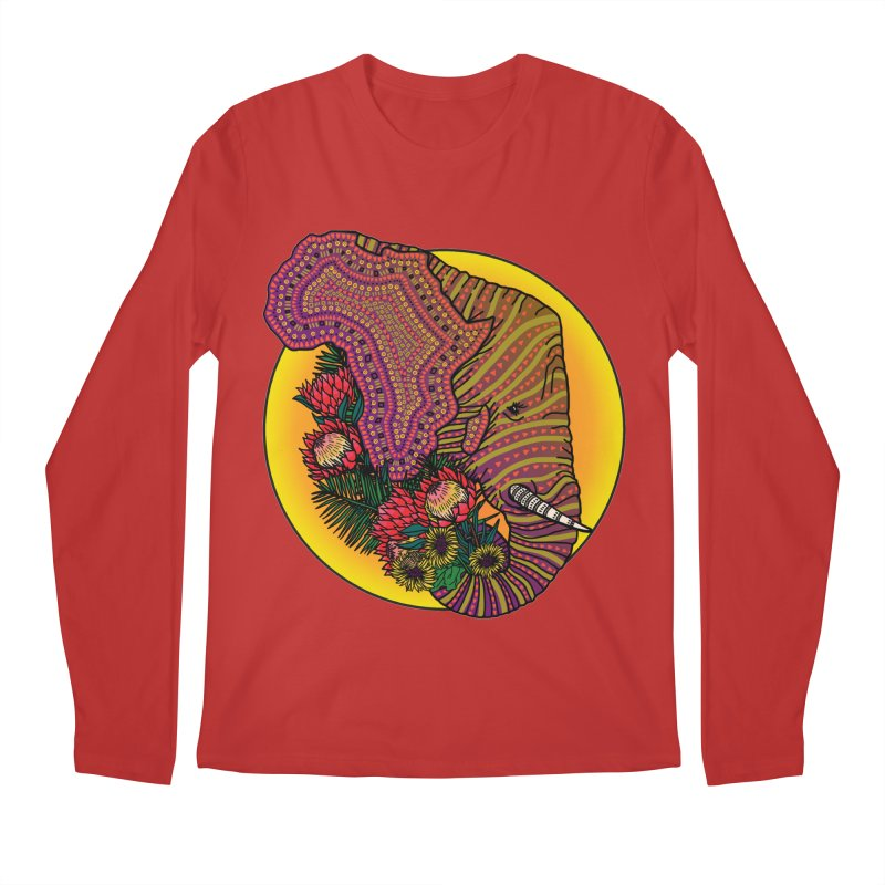 Loxodonta Africana Men's Regular Longsleeve T-Shirt by Haciendo Designs's Artist Shop