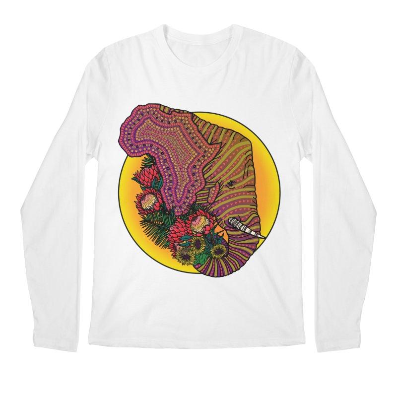 Loxodonta Africana Men's Regular Longsleeve T-Shirt by Haciendo Designs's Artist Shop