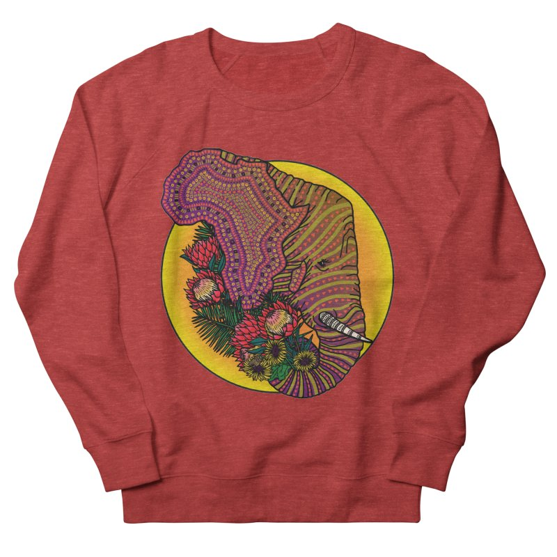 Loxodonta Africana Women's French Terry Sweatshirt by Haciendo Designs's Artist Shop