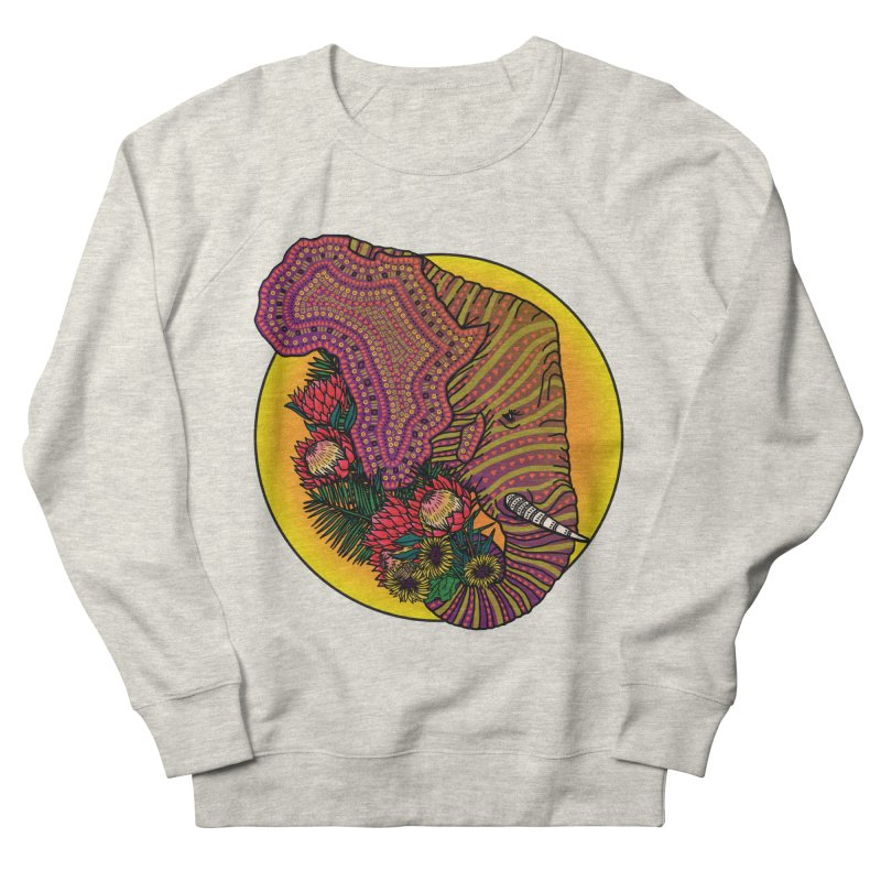 Loxodonta Africana Women's French Terry Sweatshirt by Haciendo Designs's Artist Shop
