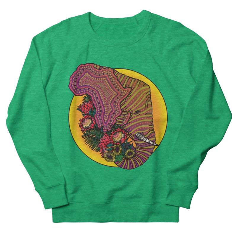 Loxodonta Africana Men's French Terry Sweatshirt by Haciendo Designs's Artist Shop