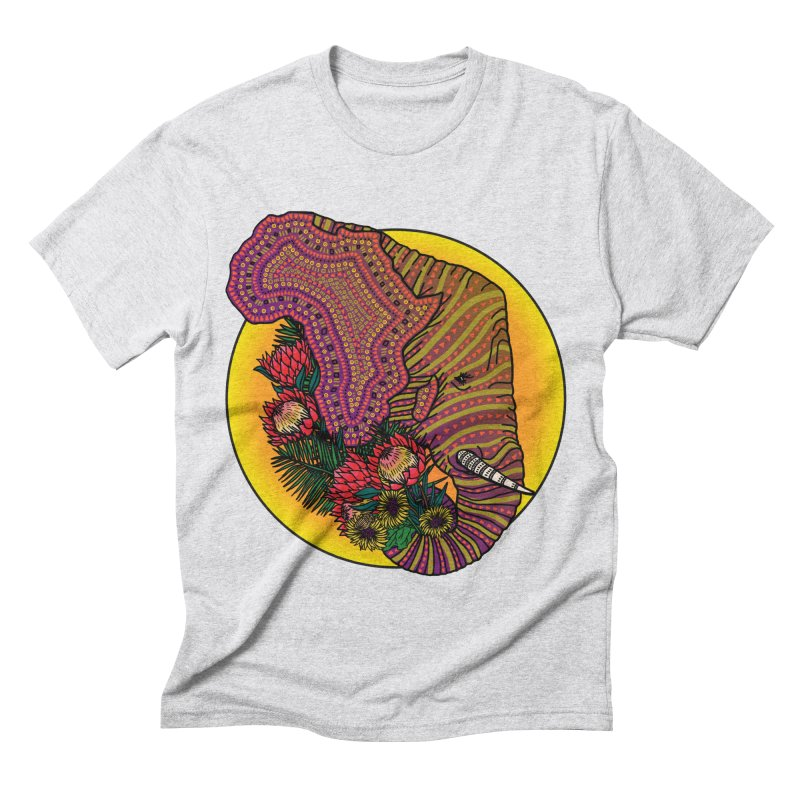 Loxodonta Africana Men's Triblend T-Shirt by Haciendo Designs's Artist Shop