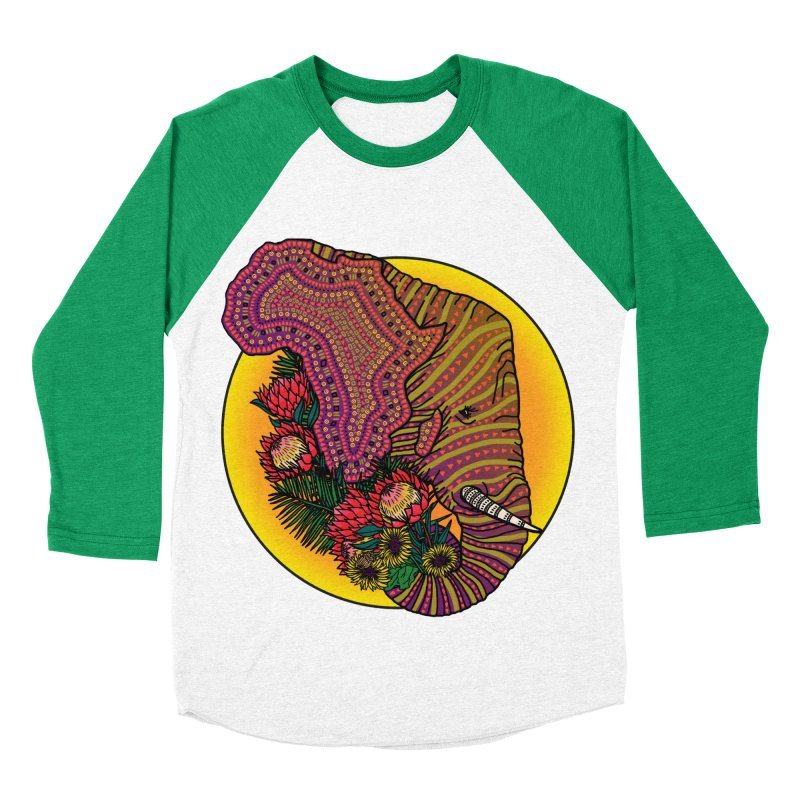 Loxodonta Africana Women's Baseball Triblend Longsleeve T-Shirt by Haciendo Designs's Artist Shop