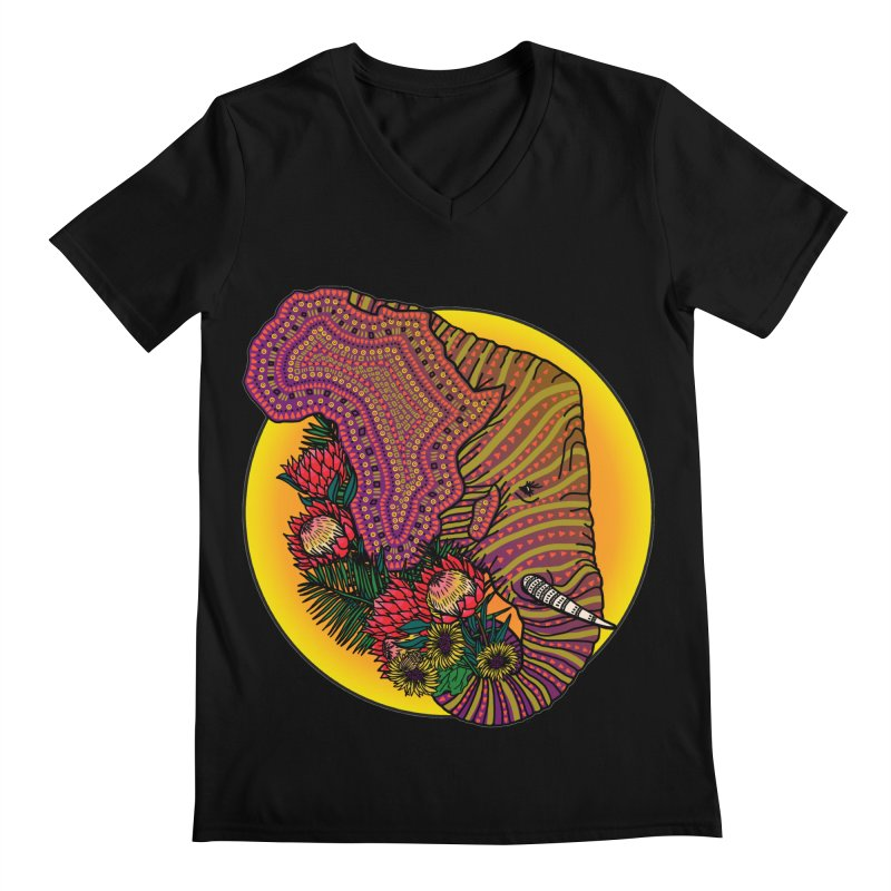 Loxodonta Africana Men's Regular V-Neck by Haciendo Designs's Artist Shop