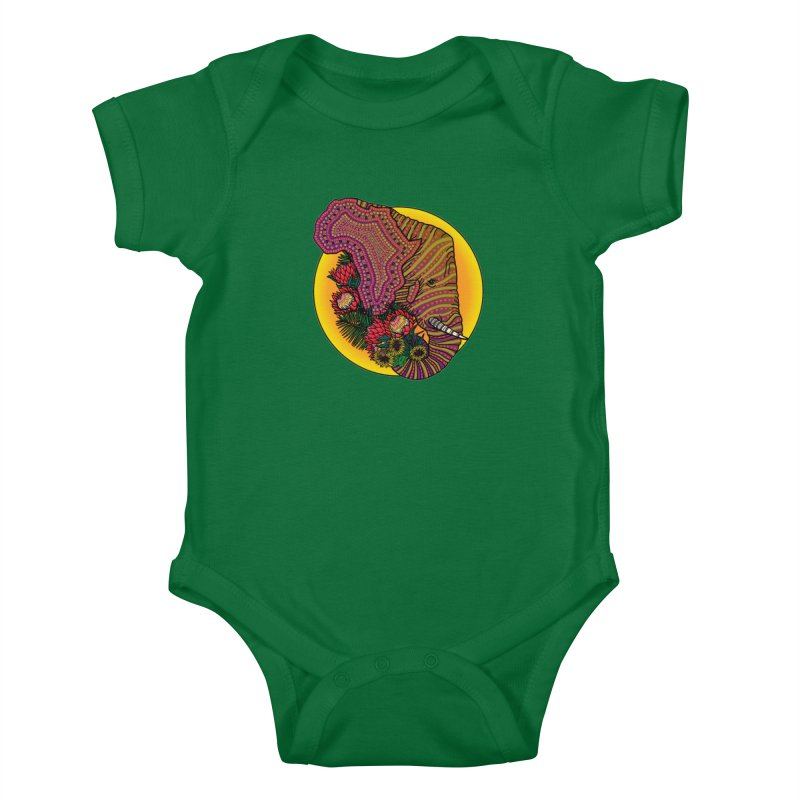 Loxodonta Africana Kids Baby Bodysuit by Haciendo Designs's Artist Shop