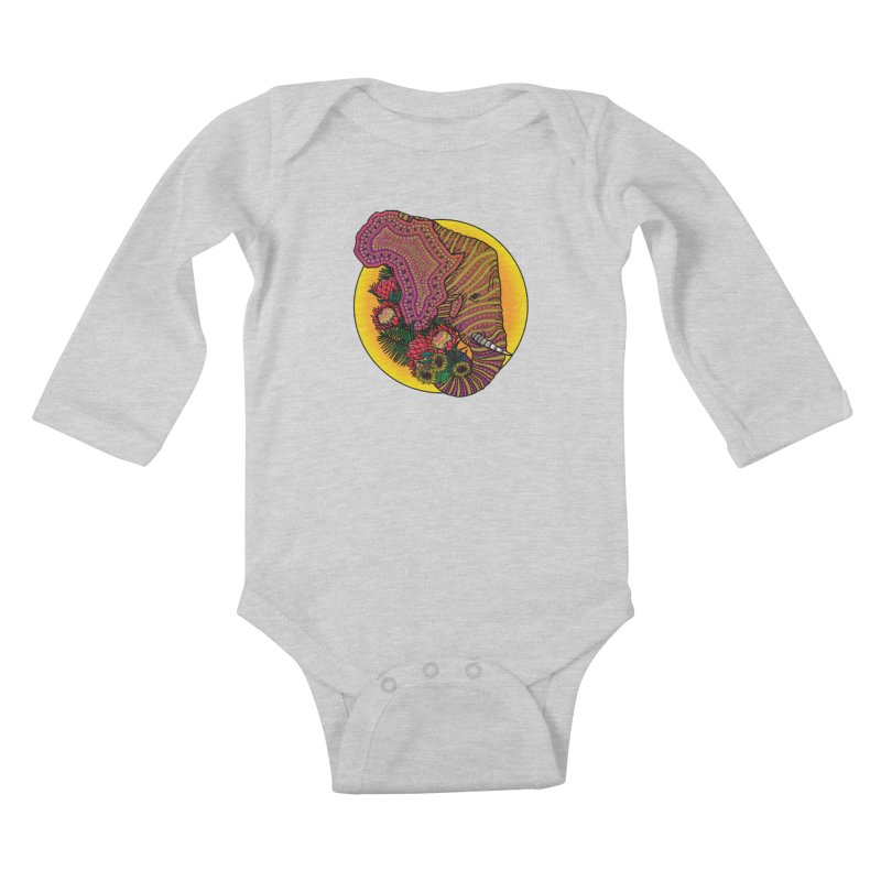 Loxodonta Africana Kids Baby Longsleeve Bodysuit by Haciendo Designs's Artist Shop