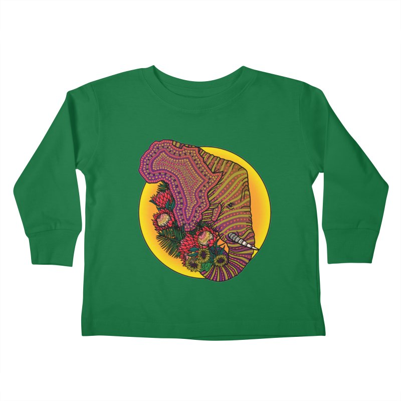 Loxodonta Africana Kids Toddler Longsleeve T-Shirt by Haciendo Designs's Artist Shop