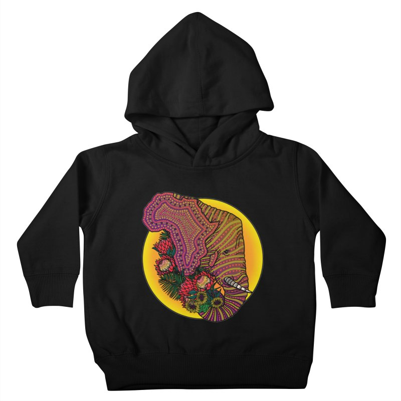 Loxodonta Africana Kids Toddler Pullover Hoody by Haciendo Designs's Artist Shop