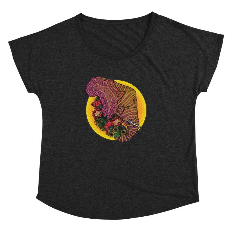 Loxodonta Africana Women's Dolman Scoop Neck by Haciendo Designs's Artist Shop