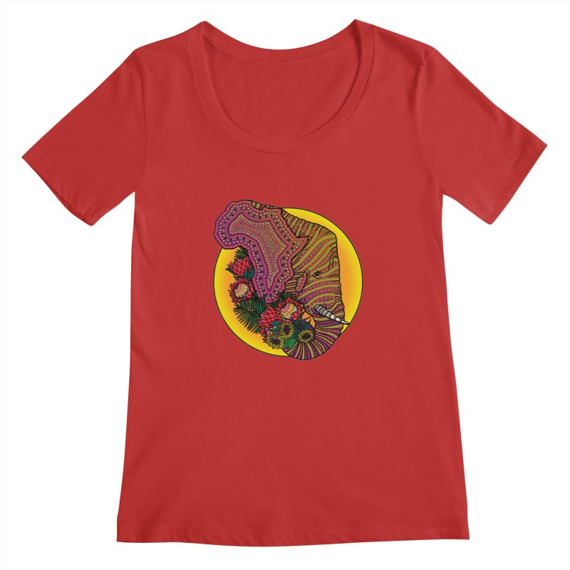 Loxodonta Africana Women's Regular Scoop Neck by Haciendo Designs's Artist Shop