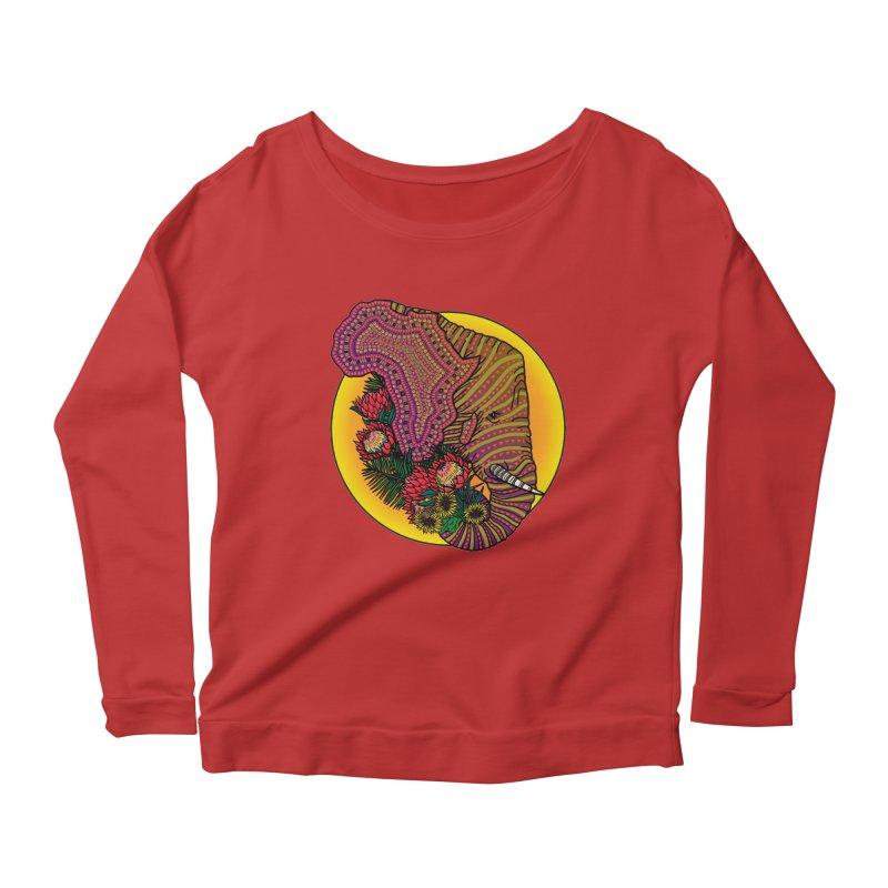 Loxodonta Africana Women's Scoop Neck Longsleeve T-Shirt by Haciendo Designs's Artist Shop