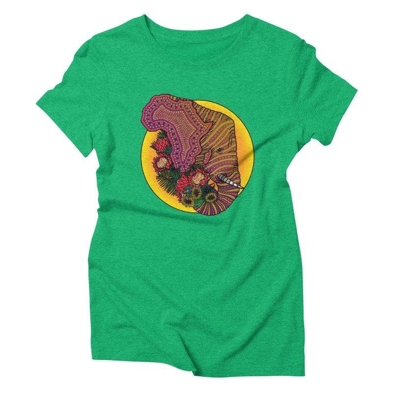 Loxodonta Africana Women's Triblend T-shirt by Haciendo Designs's Artist Shop