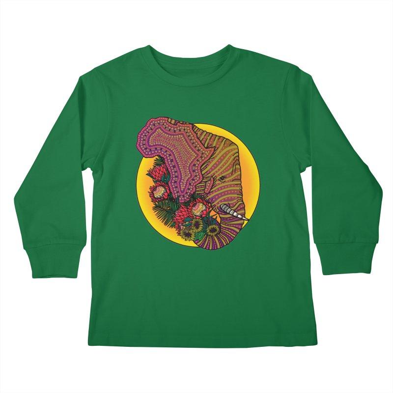 Loxodonta Africana Kids Longsleeve T-Shirt by Haciendo Designs's Artist Shop