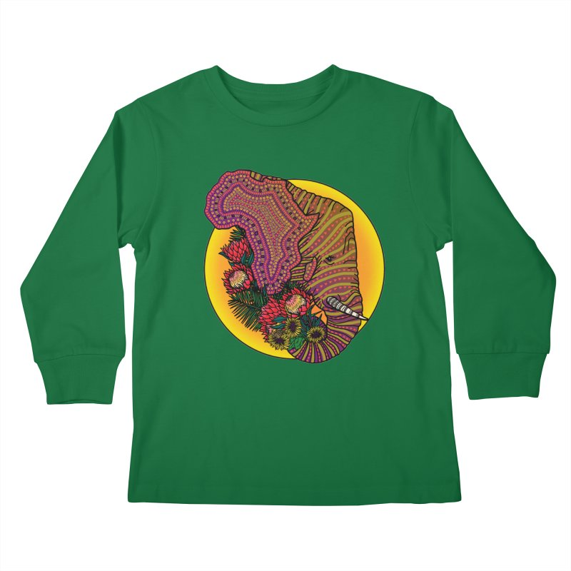 Loxodonta Africana Kids Longsleeve T-Shirt by Haciendo Designs's Artist Shop