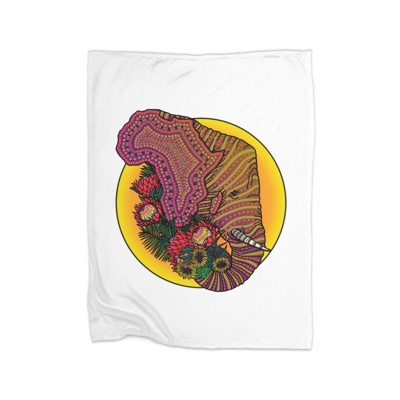 Loxodonta Africana Home Fleece Blanket Blanket by Haciendo Designs's Artist Shop