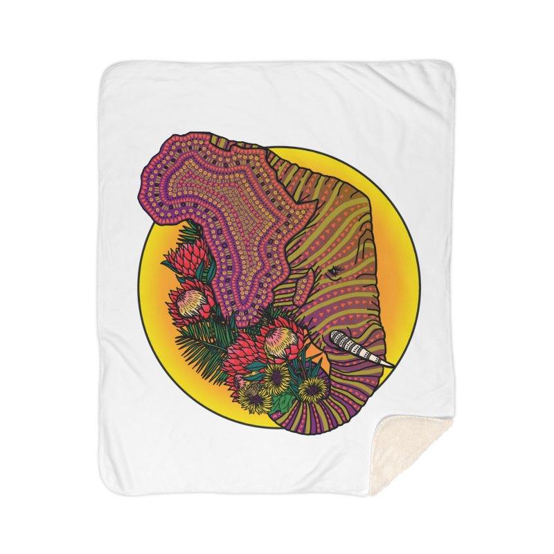 Loxodonta Africana Home Sherpa Blanket Blanket by Haciendo Designs's Artist Shop
