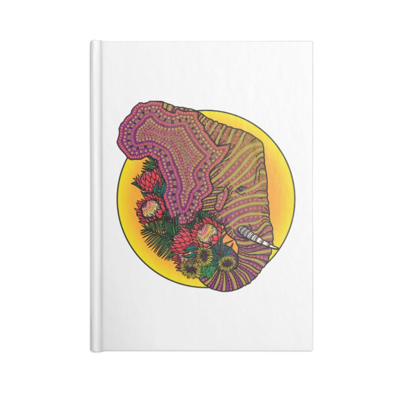Loxodonta Africana Accessories Lined Journal Notebook by Haciendo Designs's Artist Shop