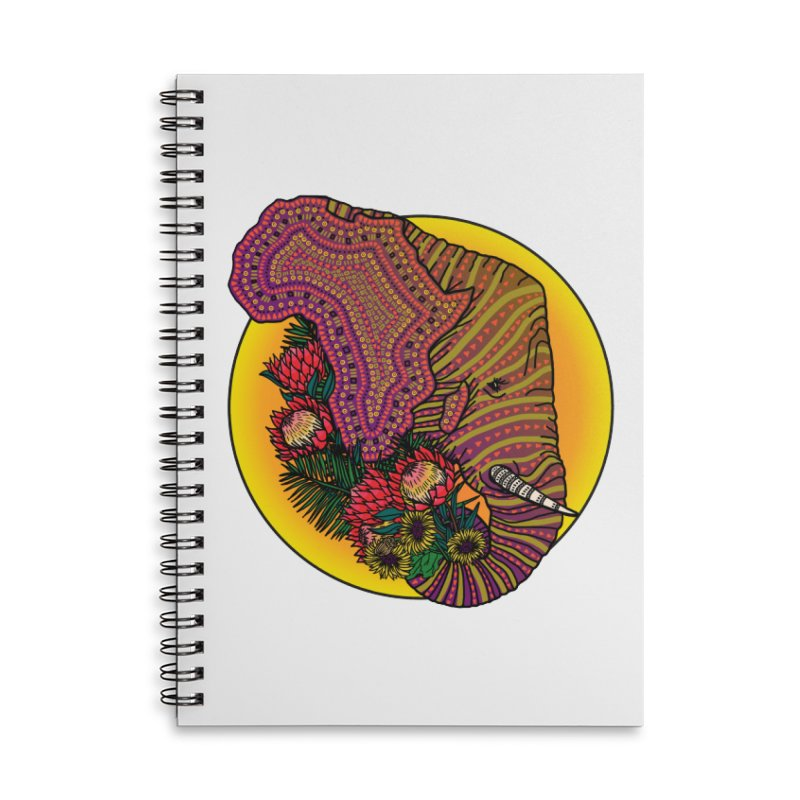 Loxodonta Africana Accessories Lined Spiral Notebook by Haciendo Designs's Artist Shop