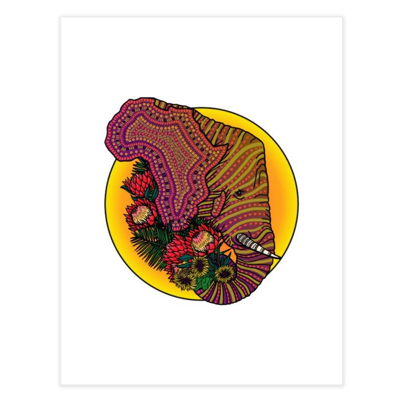 Loxodonta Africana Home Fine Art Print by Haciendo Designs's Artist Shop