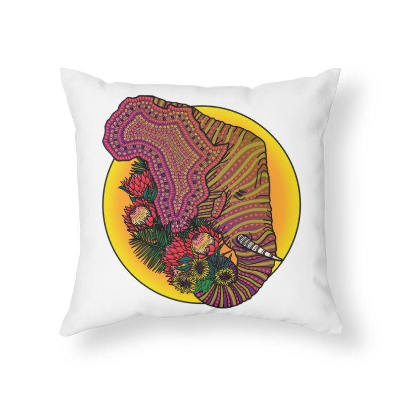 Loxodonta Africana Home Throw Pillow by Haciendo Designs's Artist Shop