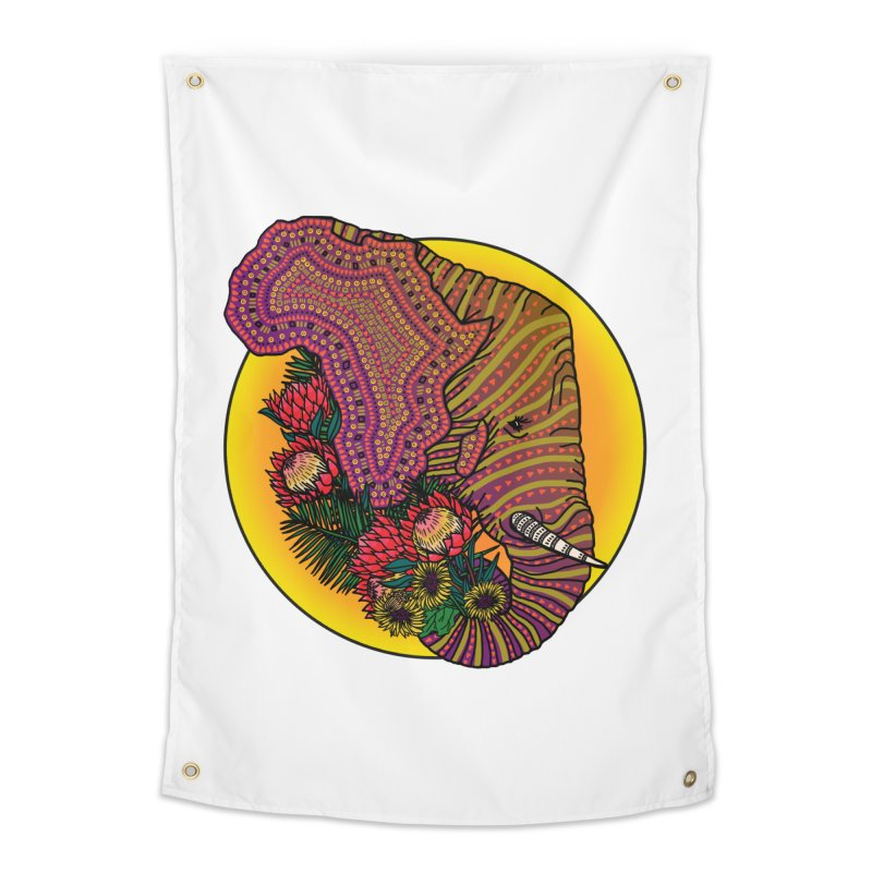 Loxodonta Africana Home Tapestry by Haciendo Designs's Artist Shop
