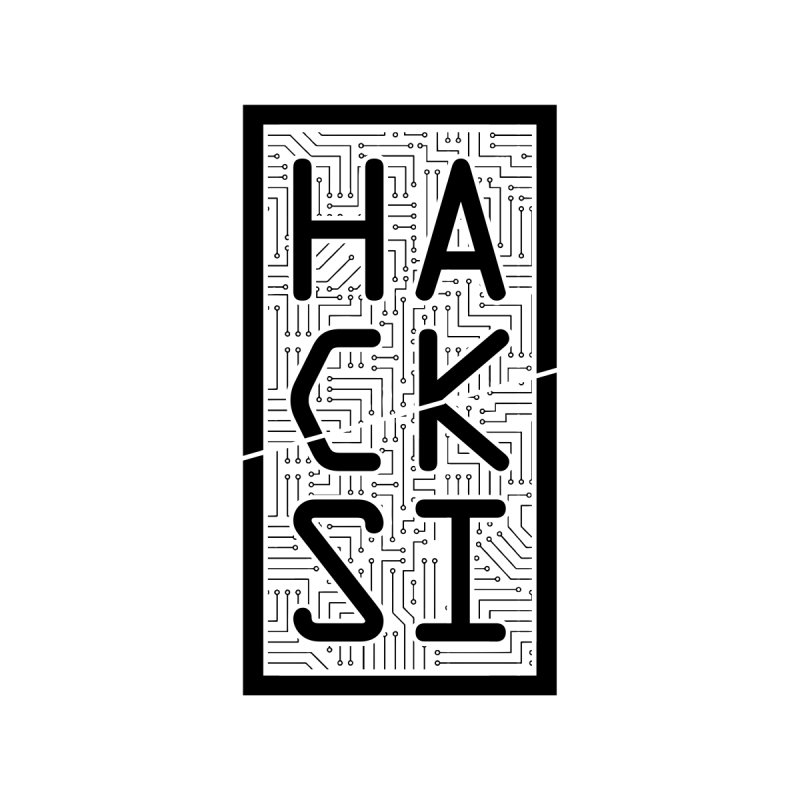 Black HackSI Logo Home Mounted Aluminum Print by The HackSI Shop