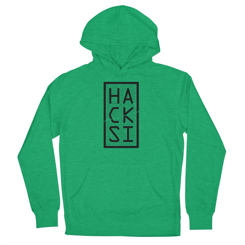 Black HackSI Logo Men's French Terry Pullover Hoody by The HackSI Shop