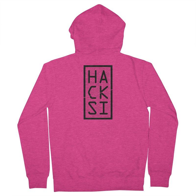 Black HackSI Logo Women's Zip-Up Hoody by The HackSI Shop
