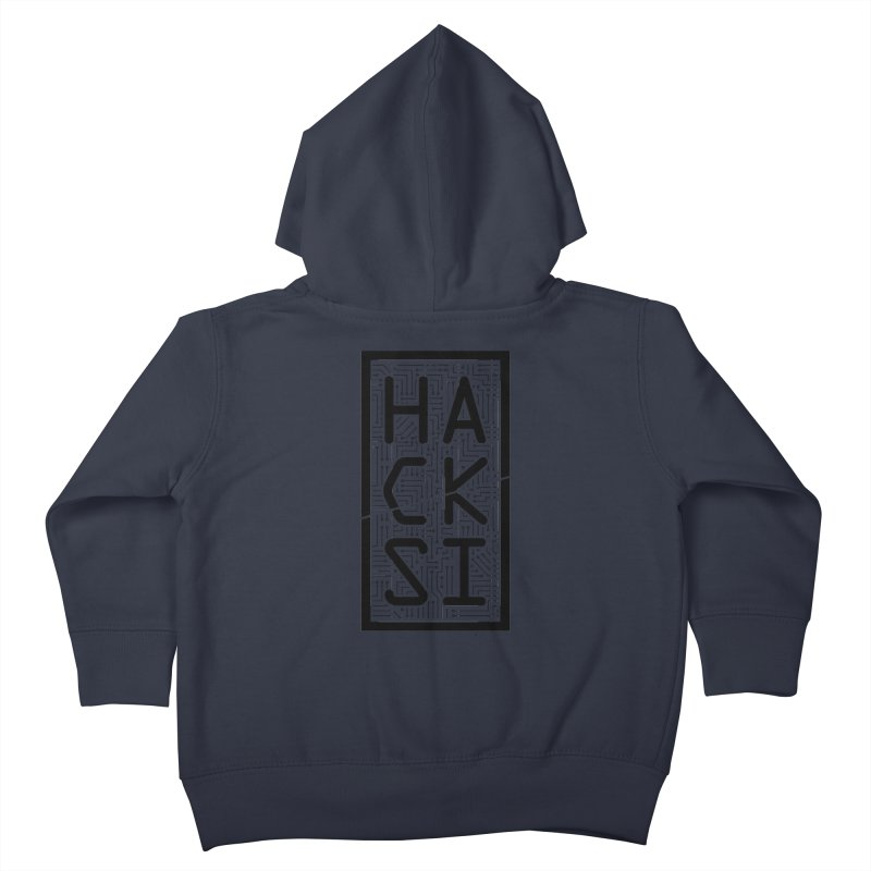 Black HackSI Logo Kids Toddler Zip-Up Hoody by The HackSI Shop