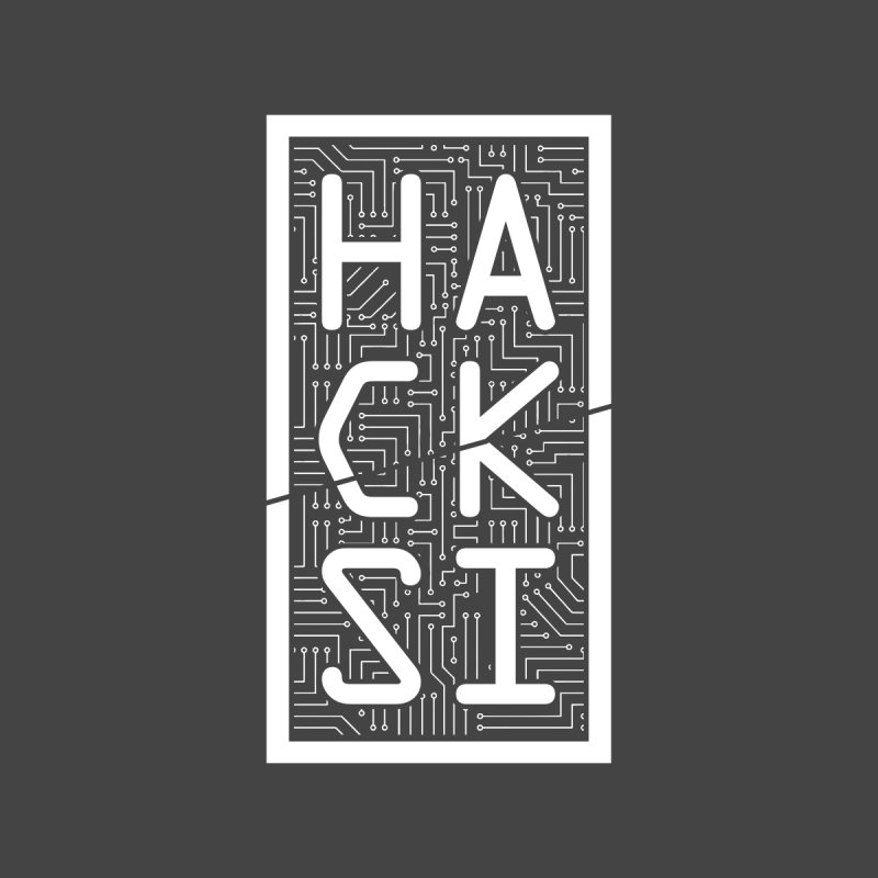 White HackSI Logo Home Mounted Aluminum Print by The HackSI Shop