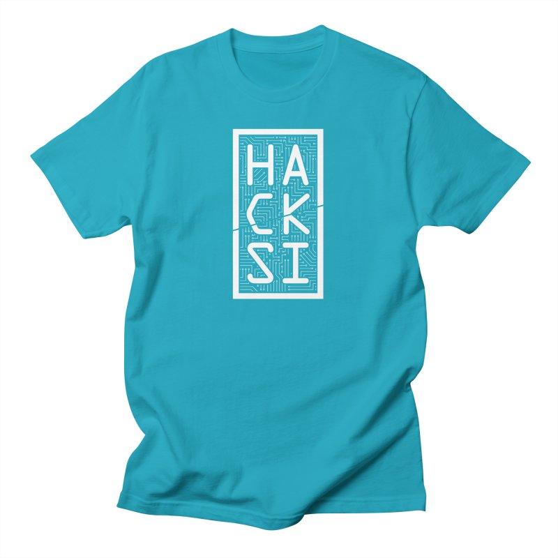 White HackSI Logo Men's T-Shirt by The HackSI Shop